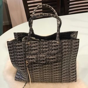 Rebecca Minkoff MAB tote, black and white.